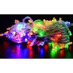 Lampki wielokolorowe choinkowe 100 LED